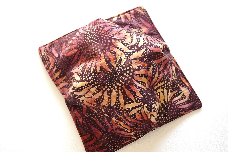 Portland Mall Batik Fabric Microwave Bowl Regular store with Sunflower Cozy Print