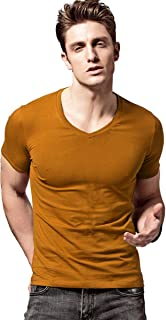 Short Sleeves Men T-Shirt V-Neck