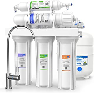 SimPure T1 Reverse Osmosis Water Filter System, Under Sink 5 Stage RO Drinking Water Filtration Purifier, NSF Certified, 75 GPD High Capacity, TDS Reduction, Superb Taste, with Faucet and Tank