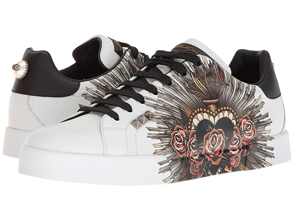 Dolce & Gabbana Sacred Heart Sneaker (White) Men