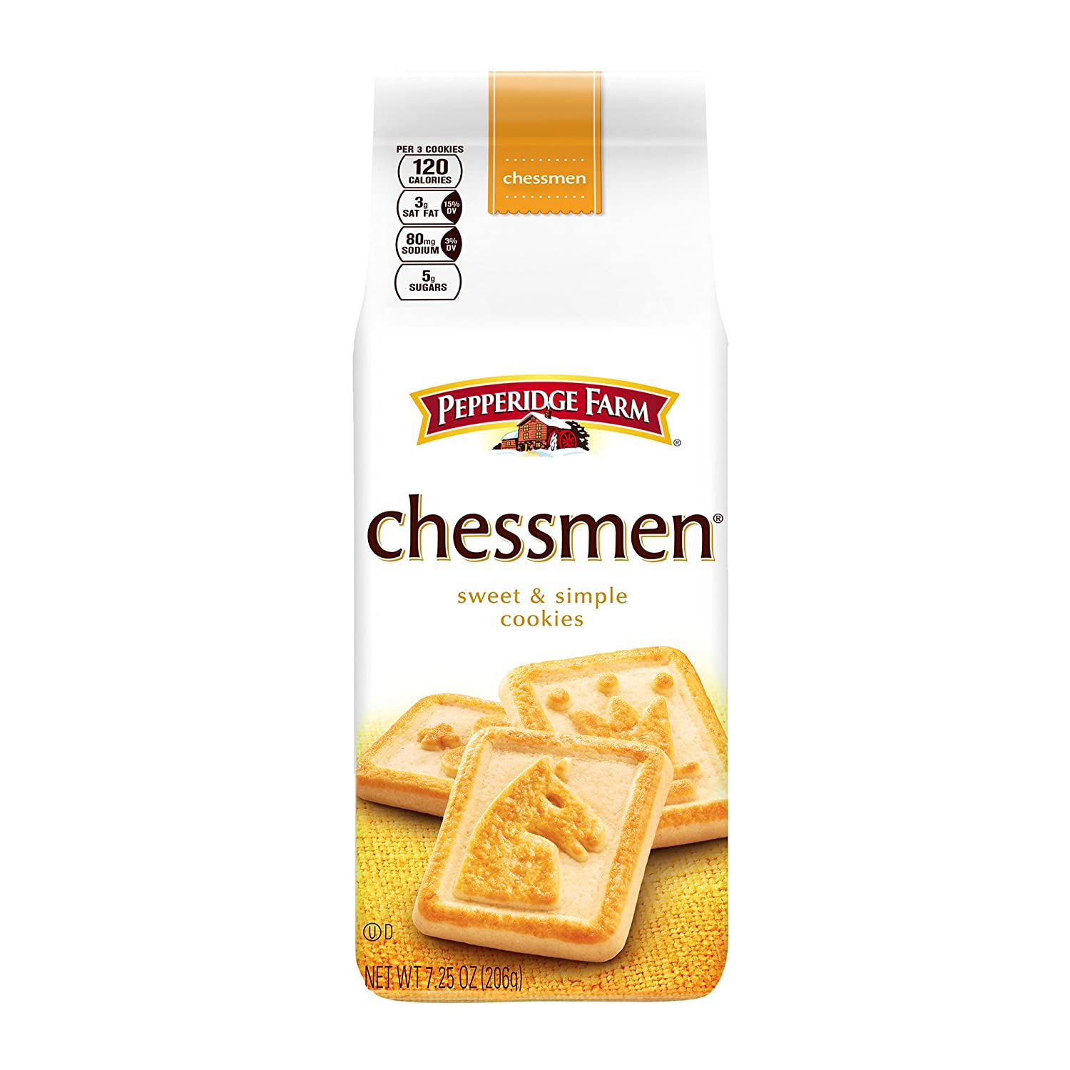 Pepperidge Farm Chessmen Cookies 7 25 Ounce Pack Of 6 Amazon Com Grocery Gourmet Food