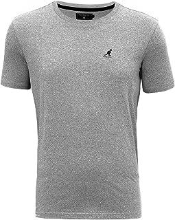 NUOVO Uomo Kangol stile Grandad Qualità Premium Manica lunga T-shirt Top