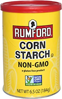 Rumford Non-GMO Corn Starch - Gluten Free, Vegan, Vegetarian, Thickener for sauce, soup, gravy in a Resealable Can - 6.5 oz (1)