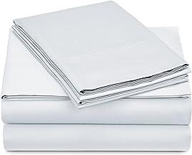 Pinzon 500-Thread-Count Pima Cotton Sheet Set, 100% Cotton, White, King