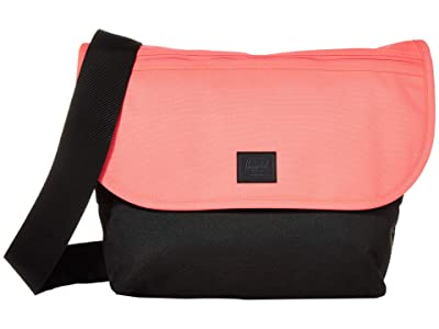 Herschel Supply Co. Grade Mid-Volume (Neon Pink/Black) Messenger Bags