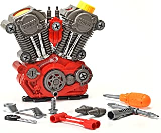 King Of Toys Educational Build-Your-Own Engine Over 25 Piece Play Set Kit with LIGHT'S & SOUNDS (Build & Re-build)