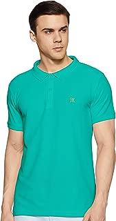 ABOF Men's Solid Slim Fit Polo