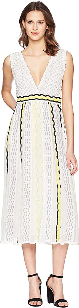 Ribbon Wave Stripe Dress
