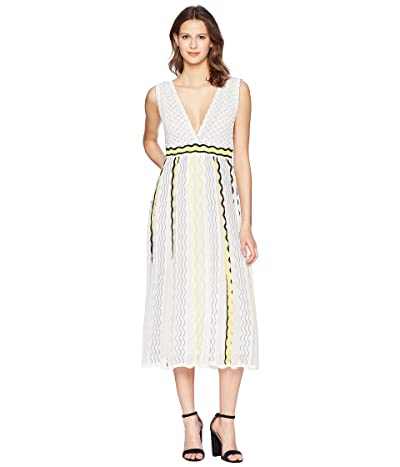 M Missoni Ribbon Wave Stripe Dress (White) Women