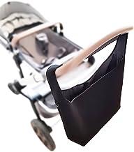 Universelle Kinderwagen Einkaufstasche XL Neopren mit Kühlfach - Schultergurt - 2 Karabinerhaken - SCHWARZ - Shopper Kinderwagen-tasche gross Rollator Rollstuhl Zubehör - MIND CARE ESSENTIALS v2