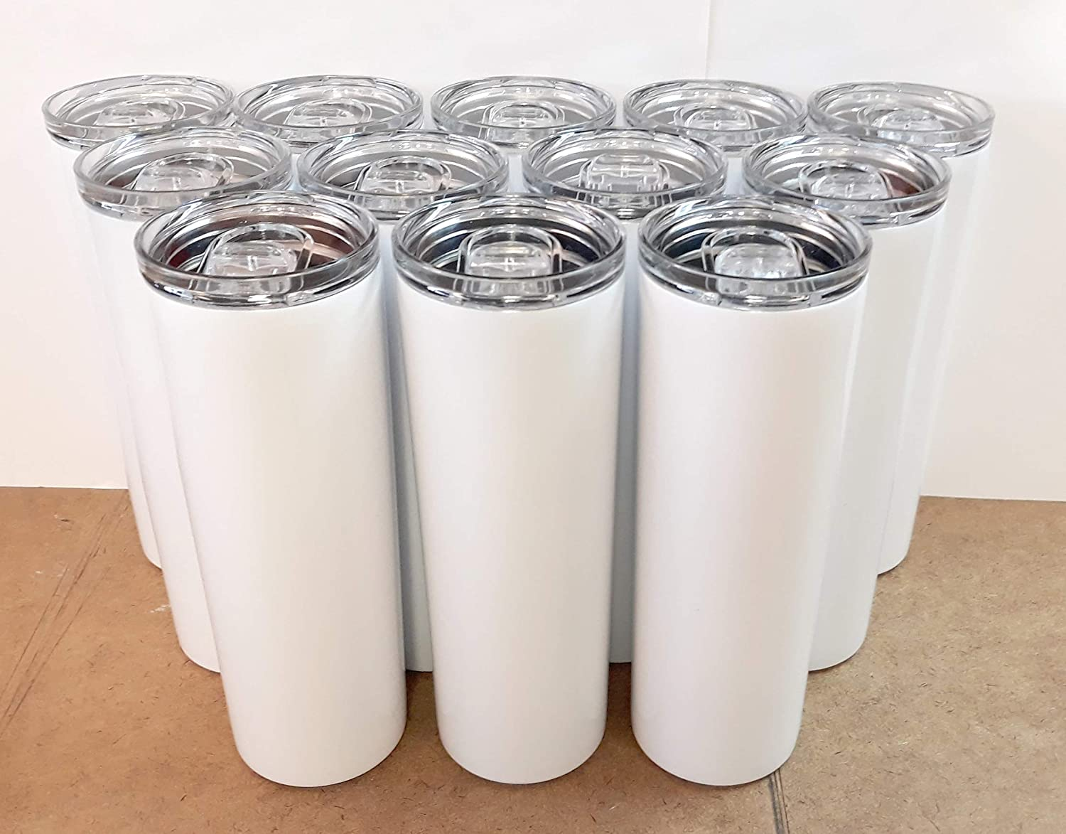 Stellar 20 oz. Skinny Steel 12 Pack Double Wall Stainless Tumbler (White)