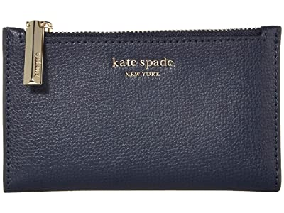 Kate Spade New York Sylvia Small Slim Bifold Wallet (Blazer Blue) Cosmetic Case