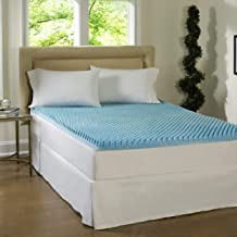 Simmons Beautyrest Comforpedic Loft from Beautyrest Dorm 4-inch Textured Gel Memory Foam Mattress Topper Twin XL