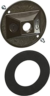 Hubbell-Raco 5197-2 Round Cluster Cover, for Use with Weatherproof Boxes, Die Cast Zinc, Powder Coated
