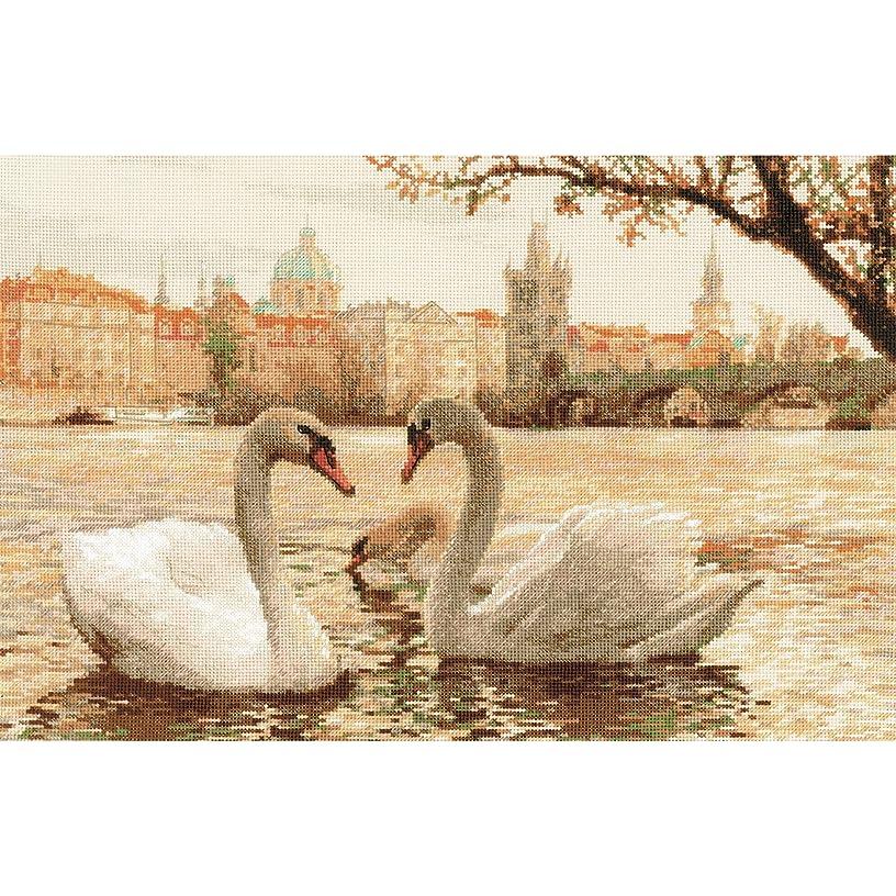 RIOLIS 1364 - Swans. Prague - Counted Cross Stitch Kit-17.75