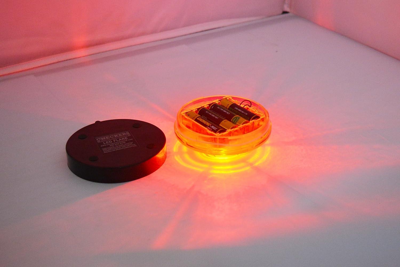 Blue 1 Tumecos Emergency Flare Alert Warning Signal Caution Light LED Beacon Pro with Magnetic Base for Vehicle