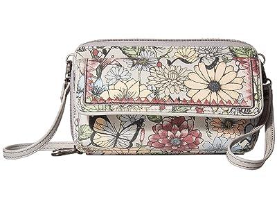 Sakroots Luna Smartphone Crossbody (Blush in Bloom) Cross Body Handbags