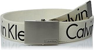 CK カルバン クライン Calvin Klein ロゴ入り GIベルト メンズ ファッション ホワイト[並行輸入品]