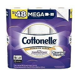 Cottonelle Ultra ComfortCare Toilet Paper, Soft Bath Tissue, 12 Count