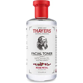 Thayers Alcohol-Free Rose Petal Witch Hazel Facial Toner with Aloe Vera Formula - 12 oz