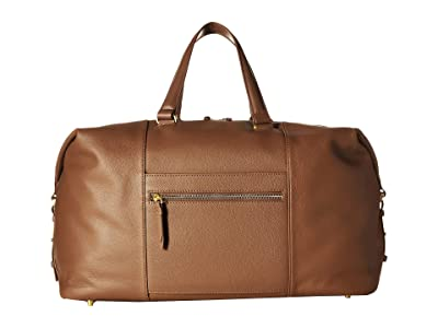 Lipault Paris Plume Elegance Leather Weekend Bag (Cognac) Bags