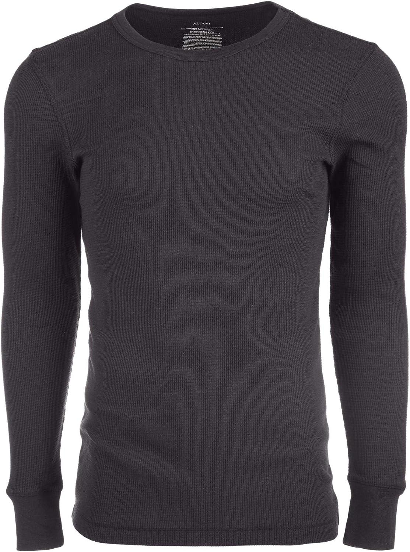 Alfani Mens Gray Long Sleeve Crew Neck Shirt 3X