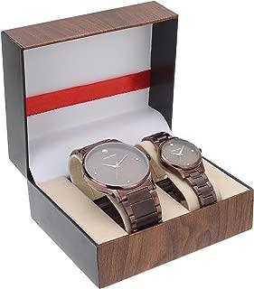 Swiss Trend Brown Dial Men's and Women's Couple Watch