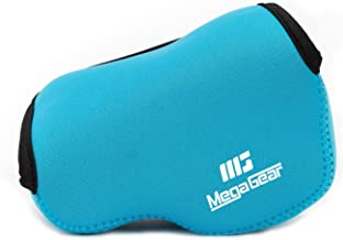 MegaGear ''Ultra Light'' Neoprene Camera Case Bag with Carabiner for Fujifilm X30 Digital Camera (Blue)