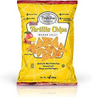 Perfection Snacks Gluten Free Mini Tortilla Chips (Mango Chili, 7oz / 3ct)