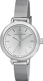 Laura Ashley Silver Women's Mesh Band Classic Watch