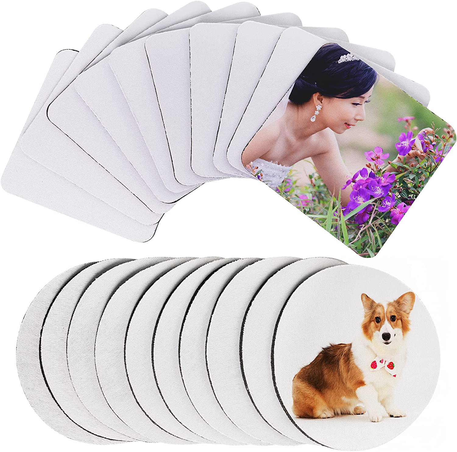 20 Pcs Sublimation Blank Coasters Rubber Cup Heat Press Transfer Max 57% OFF Max 75% OFF
