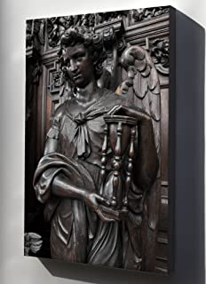 Canvas 16x24; A Confessional In Sint-Pauluskerk,In Antwerp. Wood Carving By Pieter Verbrugghen I, 17Th Century (Between 1658 And 1660). Detail An Angel Holding An Hourglass, As A Symbol Of Time
