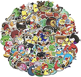 Angry Birds Laptop Stickers 100pcs Pack Cute Cartoon Vinyl Computer Waterproof Water Bottles Skateboard Luggage Decal Graffiti Patches Decal