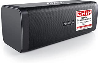 DOCKIN D FINE Głośnik Bluetooth 50W HiFi – Przenośny Głośnik Bezprzewodowy z 2-Drożnym Stereo, Mocny Bas i Wbudowany Power...