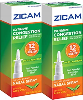 Zicam Extreme Congestion Relief Nasal Spray, oz. Bottles, Fast Powerful Relief for Nasal Congestion from Colds or Allergie...