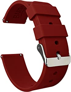 Barton silicona liberación rápida–24mm de ancho–elección de color–sedoso suave de goma bandas de reloj