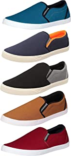Men's Canvas Casual Loafers Shoes, Pack of 5 Combo