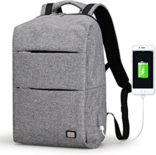 Mark Ryden Business Water Resistant Polyester Laptop Backpack with USB Charging Port Fits Under 15.6Inch Laptop and Notebook