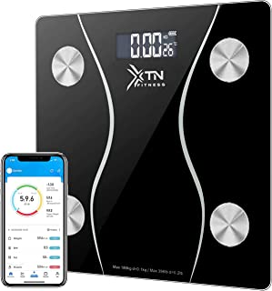 XTN Body Fat Scale, Bathroom Scales, Digital Body Weight with Bluetooth Smart BMI Monitor Analyzer, 12 Body Composition Mo...