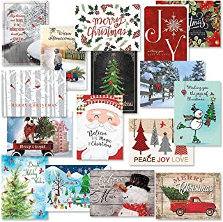 Classic Christmas Card Assortments - Holiday Greeting Cards, Set of 32, Large 5