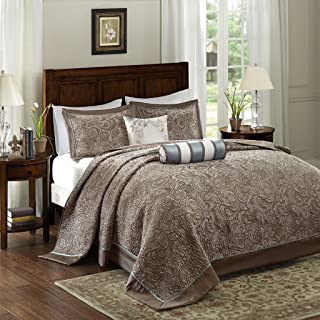 Madison Park Aubrey Bedspread Set, Oversize King, Blue