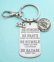 2020 United States Army Keychain. Be Strong, Be Brave, Be Humble, Be Badass Everyday. 2020 Army Recruit. USA Key Chain. Army Key Chain