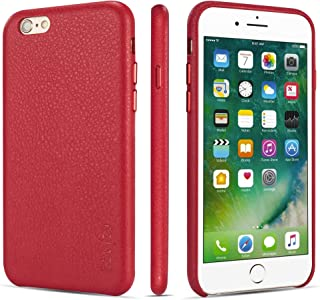 iPhone 6 Case iPhone 6s Case Rejazz Anti-Scratch iPhone 6 Cover iPhone 6s Cover Genuine Leather Apple iPhone Cases for iPhone 6/6s (4.7 Inch)(Red)