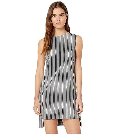 Nicole Miller Striped Shift Dress (Grey Multi) Women