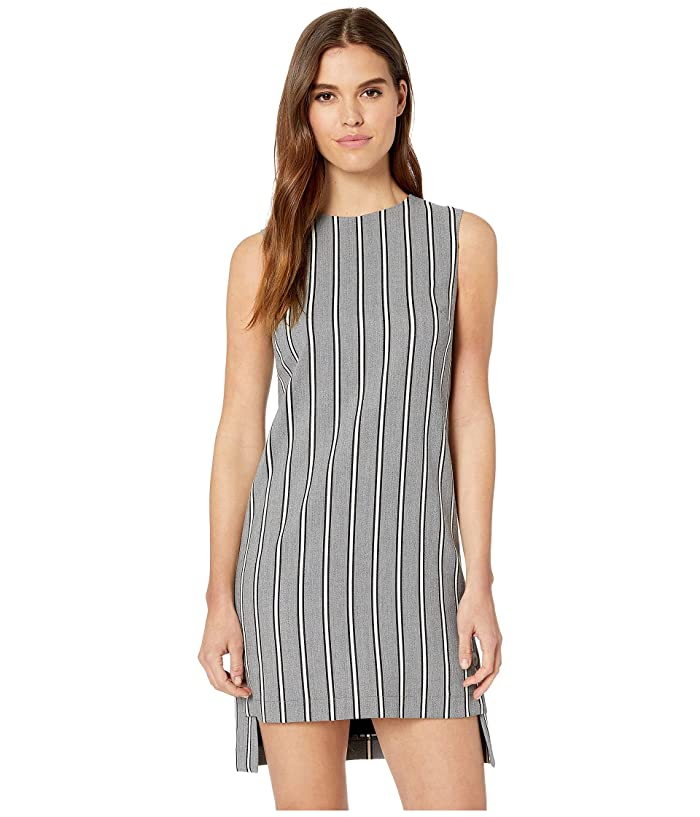 Nicole Miller Striped Shift Dress (Grey Multi) Women's Dress