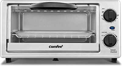 COMFEE' Toaster Oven Countertop, 4-Slice, Compact Size, Easy to Control with..