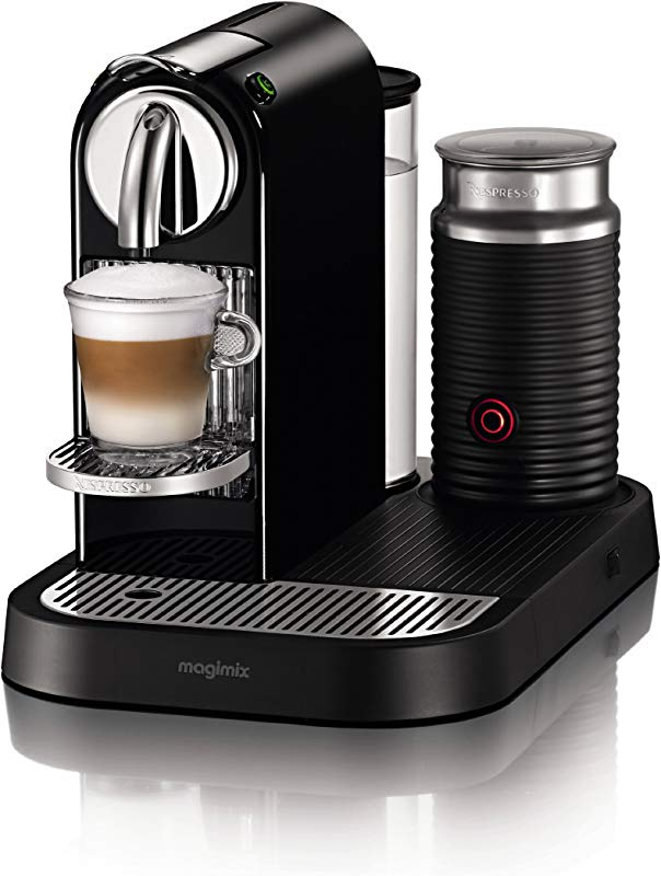 Nespresso CitiZ D120 Automatic And Programmable Espresso And Lungo Machine W Frother Black