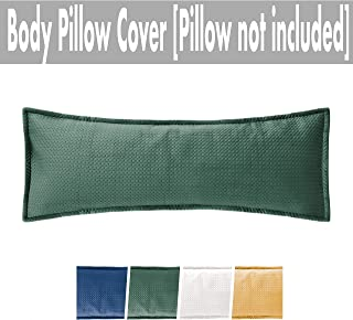 Massam Decor Body Pillow Cover Luxury Soft Velvet (Dark Green, Velvet, 20x54)