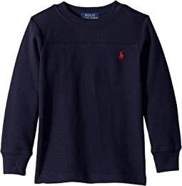 Waffle-Knit Crew Neck T-Shirt (Toddler)