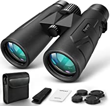 10x42 Compact Binoculars for Adults Durable Full-Size Clear Binoculars, BaK-4 Roof Prism Lightweight Binoculars for Bird Watching, Hunting, Travel, Hiking, Sports Events, Concerts